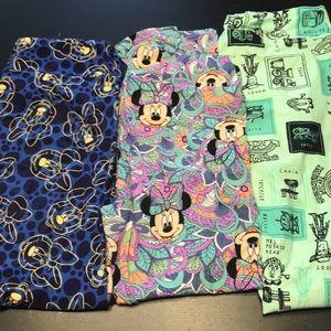 Lot of 3 Lularoe Disney Leggings TC